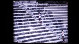1972 - Greece Epidavros tourists at the ancient theater of Epidaurus 18 Footage
