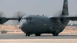 C-130 Hercules transport aircraft Footage