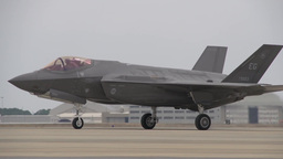 First F-35 Royal Air Force Short Take Off and Vertical Landing Footage