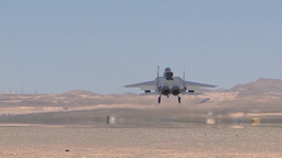 An F-15 lands during Red Flag 14-2 Mar 12, 2014 Footage