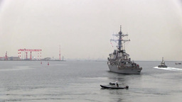 USS Fitzgerald Departs Yokosuka, Japan Footage