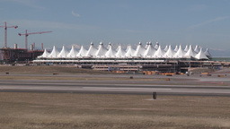 Denver International Airport stock footage