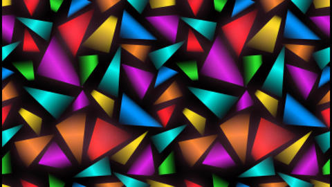 Videoabstract background with multicolored uneven distributed fragments and pixe Animation