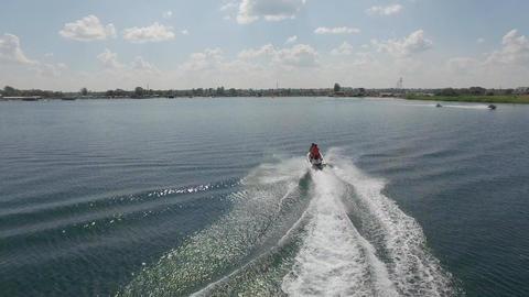 Riding on a Jet Ski Footage