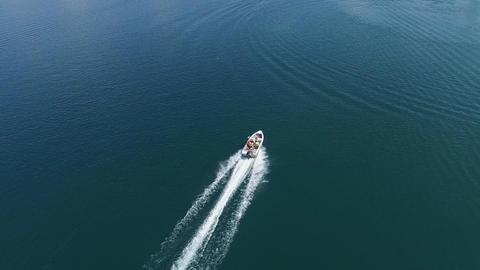 Motor Boat Aerial Image