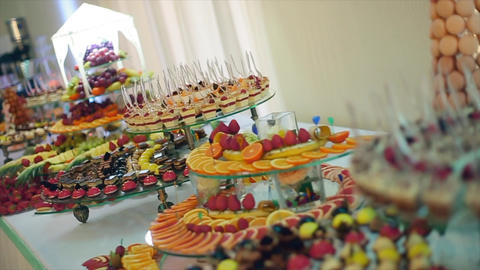 Wedding Candy Buffet Footage