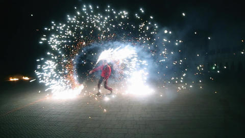 Amazing Fire Show Footage