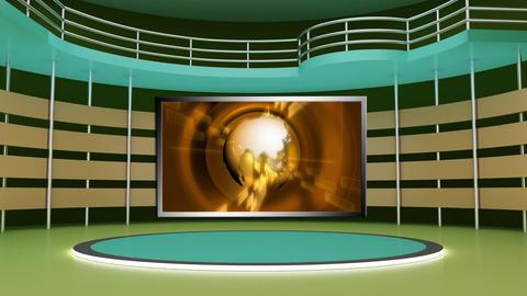 News TV Studio Set 268- Virtual Background Loop ライブ動画