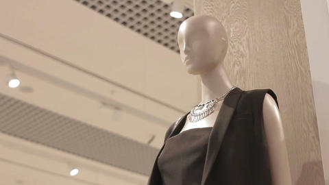 Motion from Mannequin in Black Dress to Ceiling with Soffits Live Action