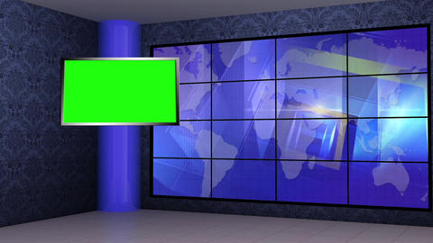 News TV Studio Set 272- Virtual Background Loop ライブ動画