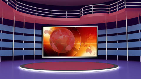 News TV Studio Set 275- Virtual Background Loop ライブ動画