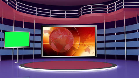 News TV Studio Set 276- Virtual Background Loop ライブ動画