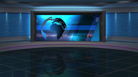 News TV Studio Set 285- Virtual Background Loop ライブ動画
