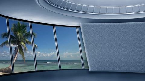 News TV Studio Set 290- Virtual Background Loop ライブ動画