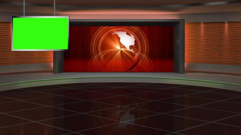 News TV Studio Set 288 - Virtual Green Screen Background Loop Filmmaterial