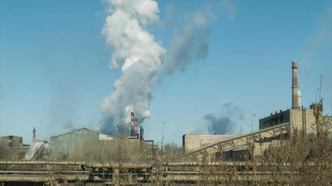 Factories and ecology. Air pollution Archivo