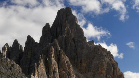 11834 time lapse people hiking dolomite alps paternkofel Footage