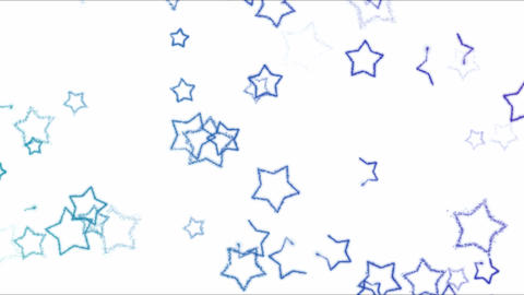 Drawing Star Shapes on White Background Animation - Loop Rainbow Animation