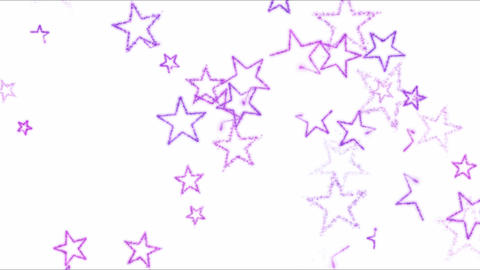 Drawing Star Shapes on White Background Animation - Loop Purple Animation