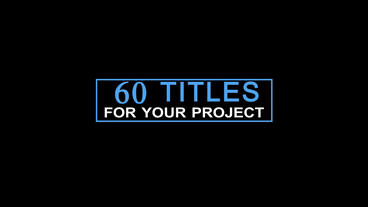 60 minimal titles After Effectsテンプレート