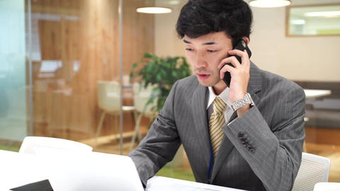 Business image (men · office · telephone) Filmmaterial
