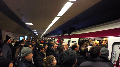Metro train services disrupted today during rush hours after a technical snag hi Footage