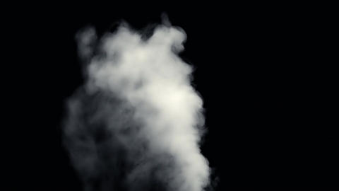 Fire Smoke from Black Background Filmmaterial