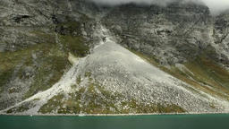 Greenland Prince Christian Sound 019 triangular moraine field at a slope Footage