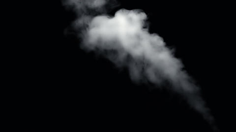 Fire Smoke from Black Background Footage