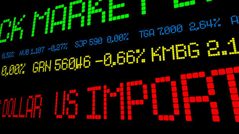 US import prices fall on oil slide strong dollar Footage