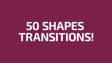 Shape Transitions After Effects Templates