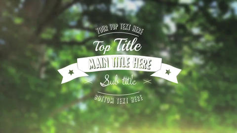 Vintage Title - Apple Motion and Final Cut Pro X Template Apple Motion Template