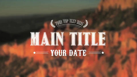 Western Title - Apple Motion and Final Cut Pro X Template Apple Motion Template