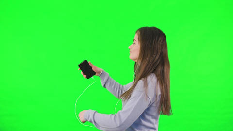 Listening to Music on Smartphone Footage