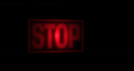 Stop screen sign blinking red Footage