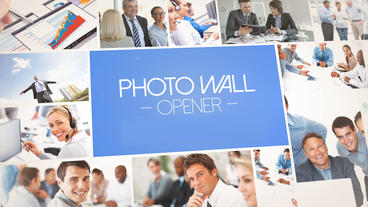 Photo Wall Opener - Apple Motion and Final Cut Pro X Template Appleモーションプロジェクト