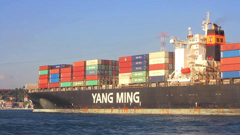 Cargo container ship YM Footage