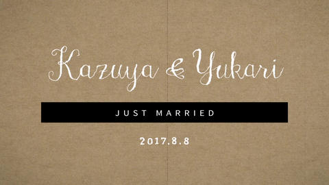 Vintage Wedding Welcome Movie 2set / Count Down After Effectsテンプレート