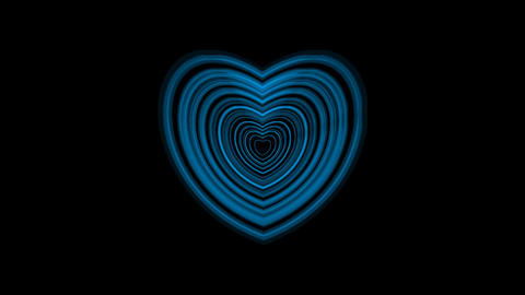 Pulsing Blue Heart With Alpha Channel Animation
