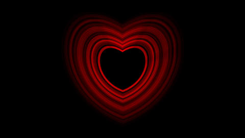 Pulsing Red Heart With Alpha Channel Animation