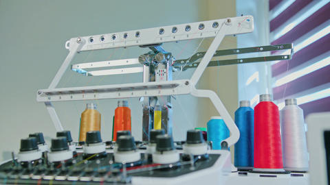 Skein Thread Stand for Embroidery Machines Footage
