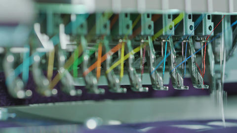 Embroidery Machine Work Footage