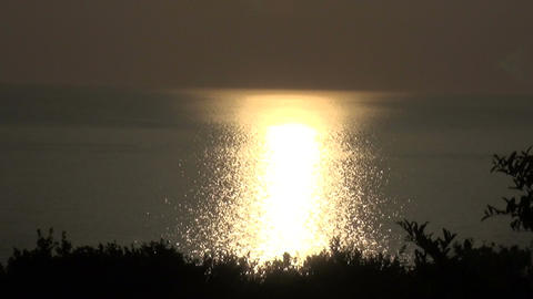 Gold Light on the Sea Footage