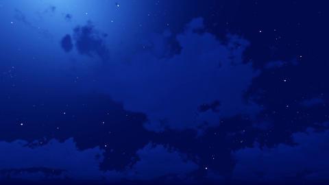 Night Sky Clouds CG動画素材