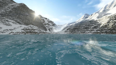 Gliding On The Icy Lake Animation