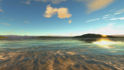 Sea Coast Background Animation