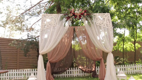 Wedding Arch With Flowers Footage