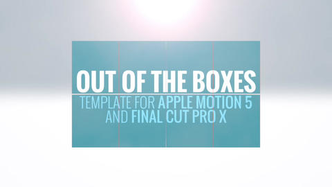 Out Of The Boxes Apple Motion Template