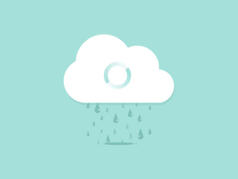 Cloud loading animation loop Footage
