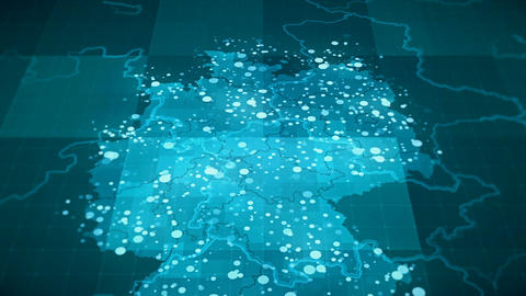 Globalization Germany Map Animation HD Footage